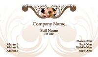 White and Tan Make-up Artist Business Card Template